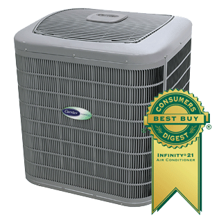Call us today for Carrier Air Conditioners and Furnaces.